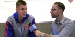 New York Knicks' Draft Pick Kristaps Porzingis Guesses Rap Lyrics. Gains Serious Street Cred