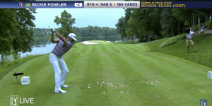 Rickie Fowler Finished His First Round Of The Quicken Loans National With This Walk-Off Hole-In-One