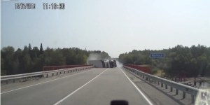 Whoa Hey There, This Russian Tractor Trailer Almost Fell Off A Bridge