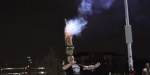 Watch The Still Insane Steve-O Celebrate The 4th Of July By Strapping Fireworks To His Skateboard