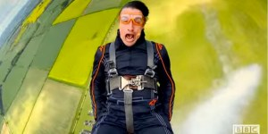'Top Gear' Host Richard Hammond Is Absolutely Insane, Rides On Top Of A Flying Plane
