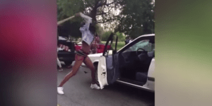 Dude Gets The Shit Beat Out Of Him And Has His Car Destroyed By Women Wielding Bats And Weaponizing Car Seats