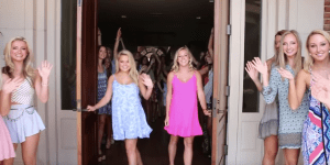 LOOK AT ALL THE HOT BLONDE SORORITY GIRLS IN THIS ALABAMA SORORITY RECRUITMENT VIDEO!!!!