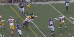 Redskins' Keenan Robinson Hit  Ravens Receiver Kamar Aiken With A Piledriver, Leads To Mini-Brawl Between Teams