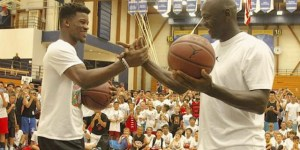 Michael Jordan And Jimmy Butler Had A Shooting Contest At MJ's Basketball Camp