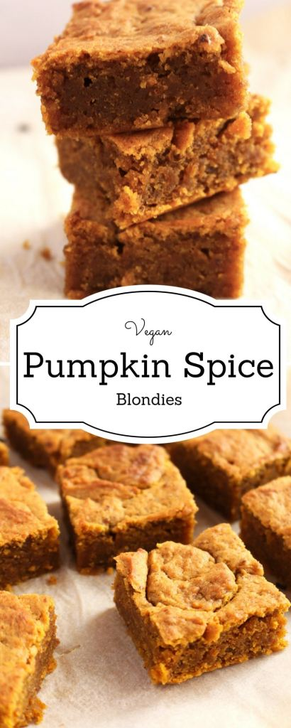 Get your bake on with this easy vegan pumpkin spice blondies recipe. It taste like fall in a bite!