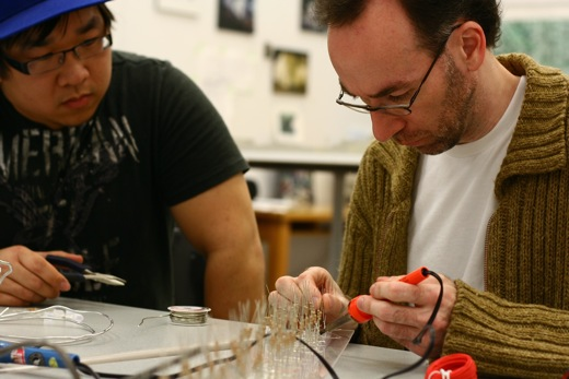 Mike and Darren finishing up the soldering