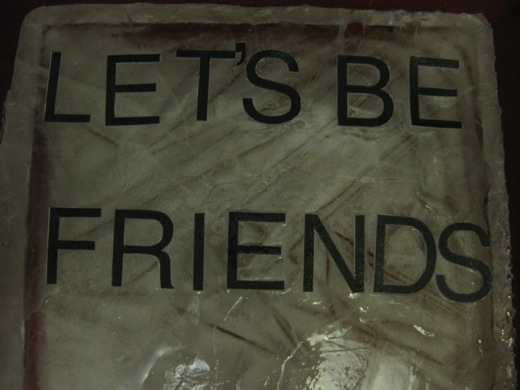 Let's Be Friends, on ice