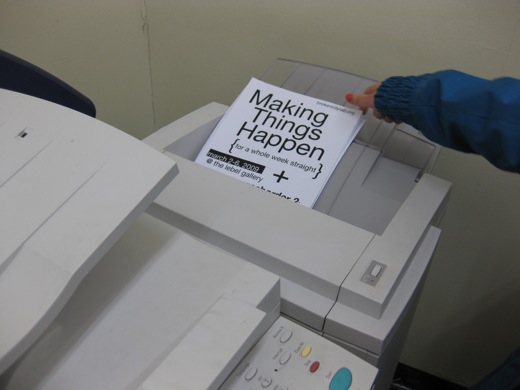 photocopying the poster