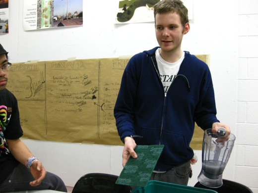 Steven suggesting the use of a scrub pad