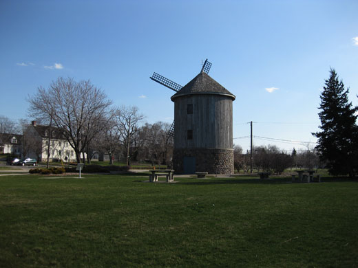 the windmill at a distance