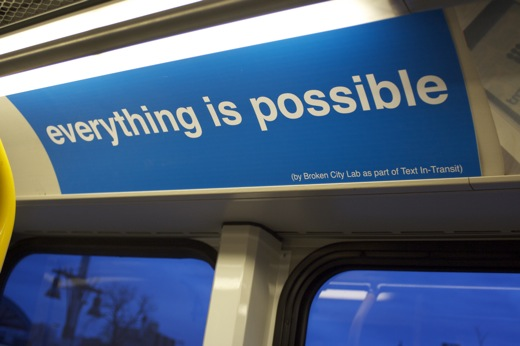 Everything is Possible - on the tunnel bus