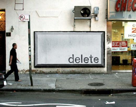 delete key instead of illegal advertising