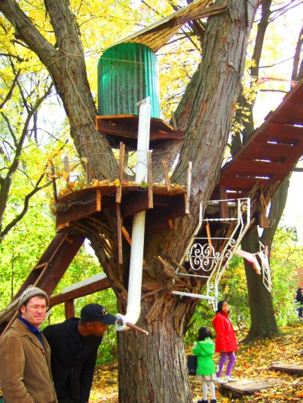 Tree Fort Installation by Arbor Lake School
