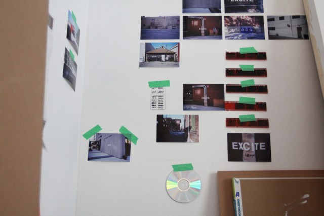 Exhibition design, photographs, tape, and negatives (1)