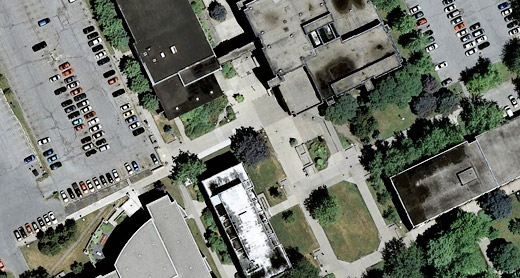 parking lots on University of Windsor campus