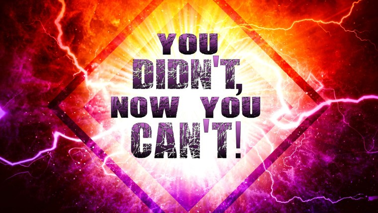 You Didn't Now You Can't - Sun Dec 27am