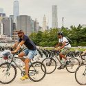 Bike Riders enjoy a ride along the Brooklyn Greenway