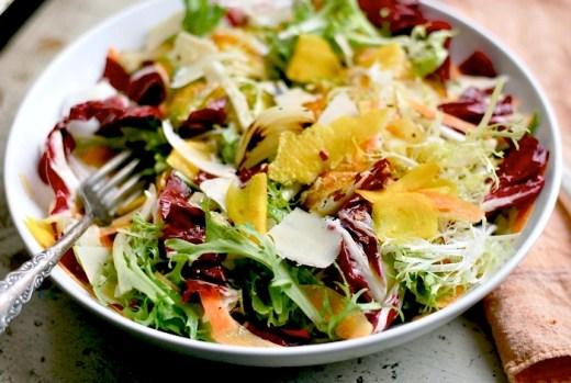 frisee and radicchio salad