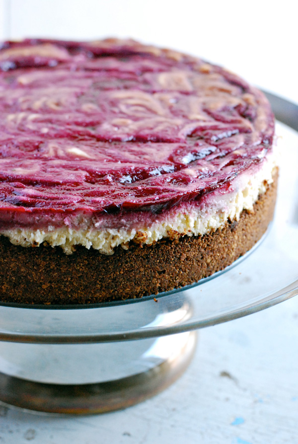 blackberry swirl cheesecake recipe // brooklyn supper
