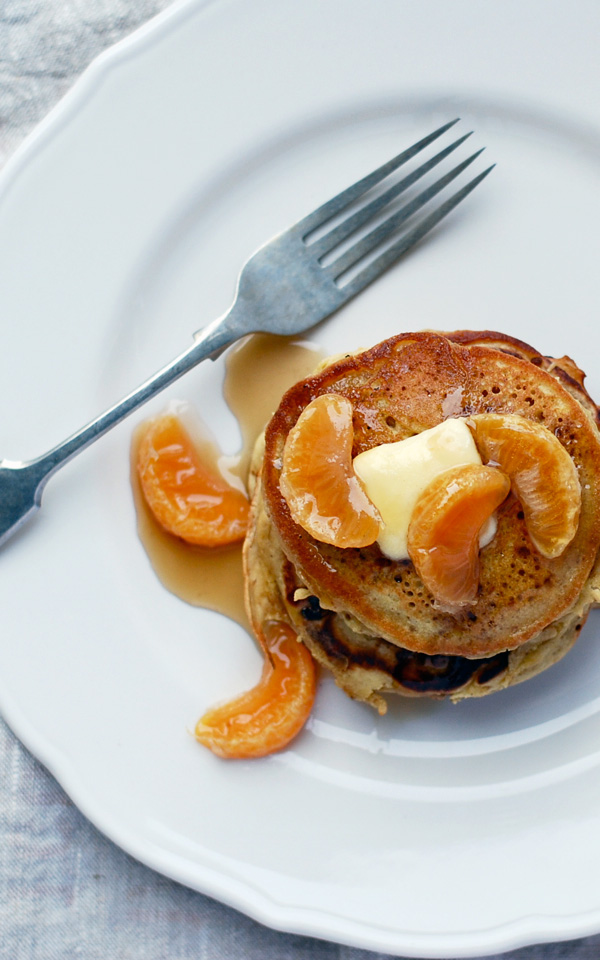 buckwheat orange pancakes with poached clementines // brooklyn supper
