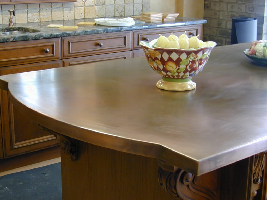 copper kitchen island countertop Copper Counter Tops