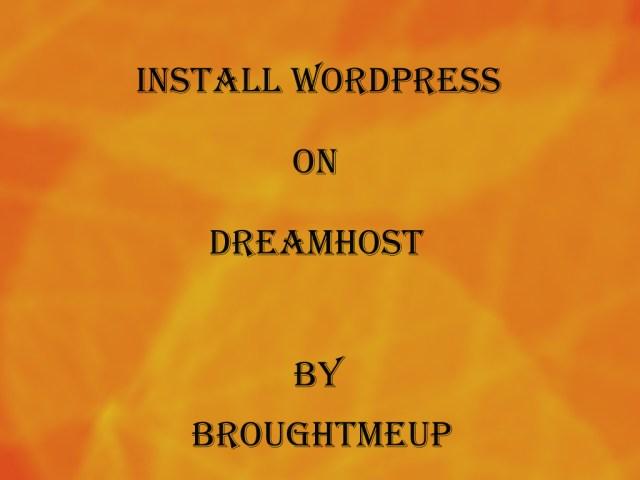 Wordpress on Dreamhost