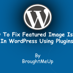 Guide To Fix Featured Image issues In WordPress Using Plugins
