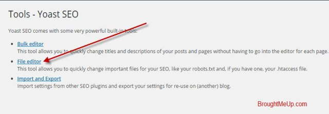 Edit Robots.txt file using yoast seo