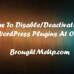 How To Disable All WordPress Plugins At Once