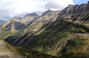 View from Logan Pass, Along the Road to The Sun, Glacier Park