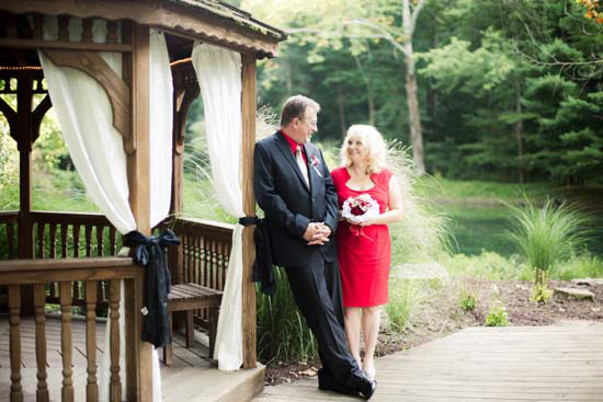 Outdoor Gazebo wedding at Brown County Weddings in Nashville Indiana August 2015