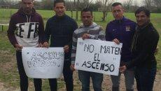 Fútbol: referentes del Sur salieron a gritar #NoMatenAlAscenso