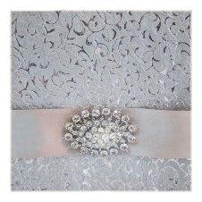 Sølv bryllupsinvitasjon