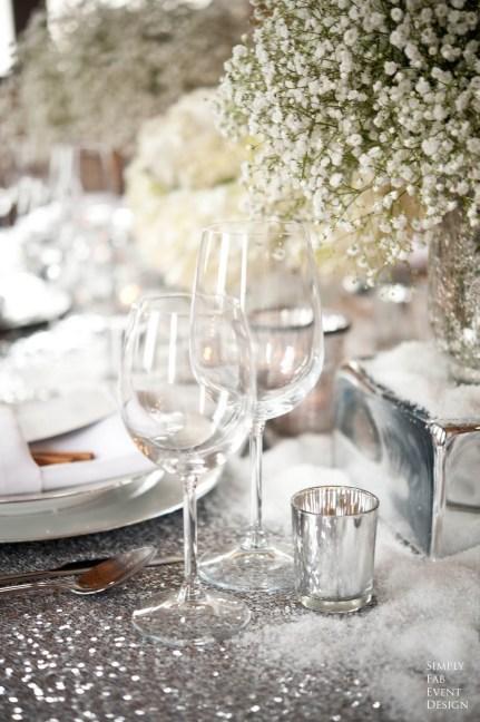 Sølv bryllupsbord