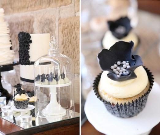 svart hvitt bryllup