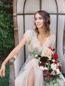 Landon-Jacob-bryllupsfotografering-vintage-brudekjole-brudebukett