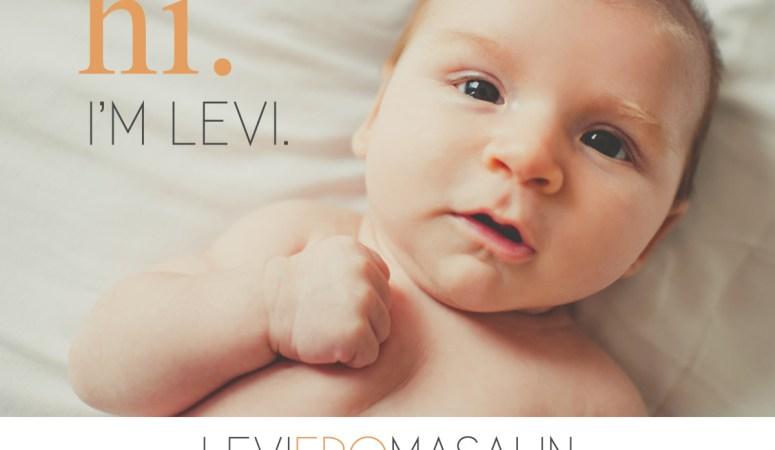 Meet baby Levi