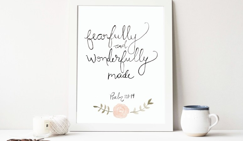 Free Download – Bible Verse + Watercolor art