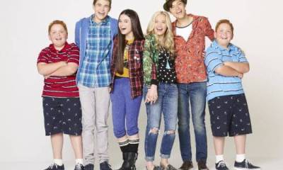 "BEST FRIENDS WHENEVER - Disney Channel's ""Best Friends Whenever"" stars Matthew Royer as Chet, Gus Kamp as Barry, Landry Bender as Cyd, Lauren Taylor as Shelby, Ricky Garcia as Naldo and Benjamin Royer as Brett. (Disney Channel/Craig Sjodin)"