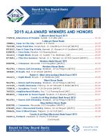 ALA Award Winners 2015