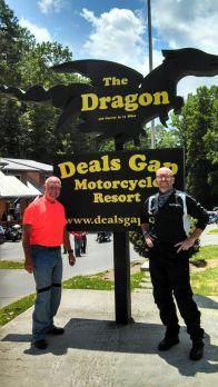 Myself and my friend Angus McPhaul at Deals Gap, N.C.