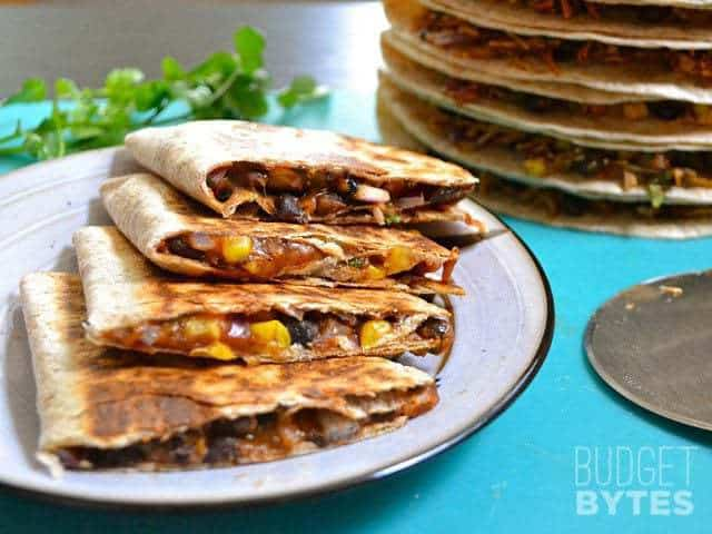 Hearty Black Bean Quesadillas - Budget Bytes