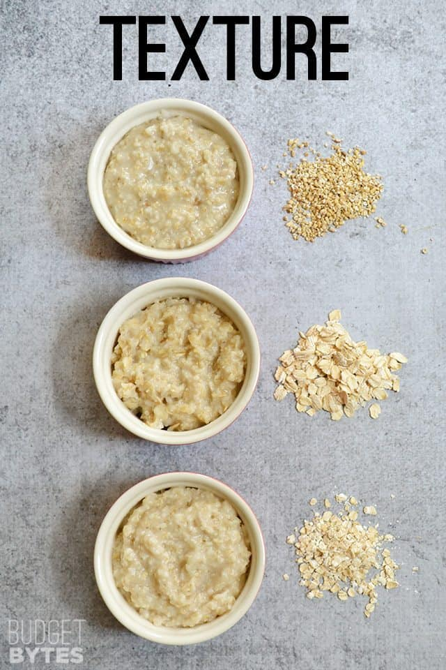 Cooked Oat Texture