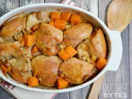 SNAP Challenge: Soy Dijon Chicken Thighs with Sweet Potatoes