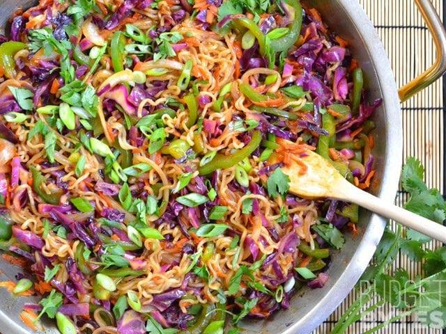 SNAP Challenge: Vegetable Stir Fry with Noodles - Budget Bytes