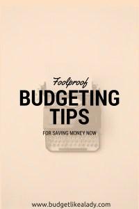 Budgeting Tips for Saving