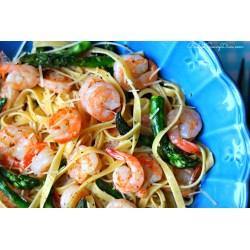 Small Crop Of Shrimp Asparagus Pasta