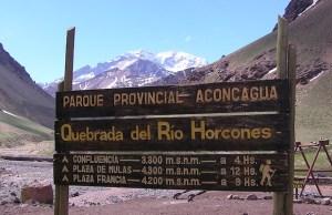 Alta montanha em Mendoza