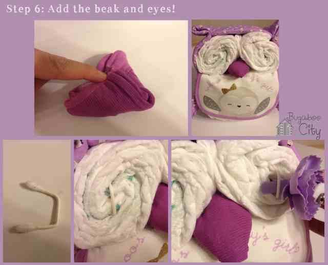 Step 6. DIY Owl Diaper Cake Tutorial